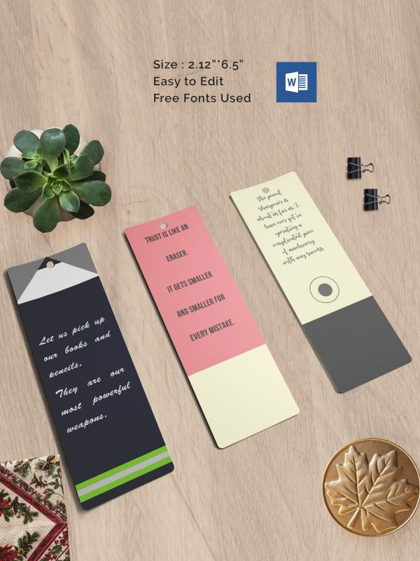 Blank Bookmark Template Book Marks Bookmark Blank