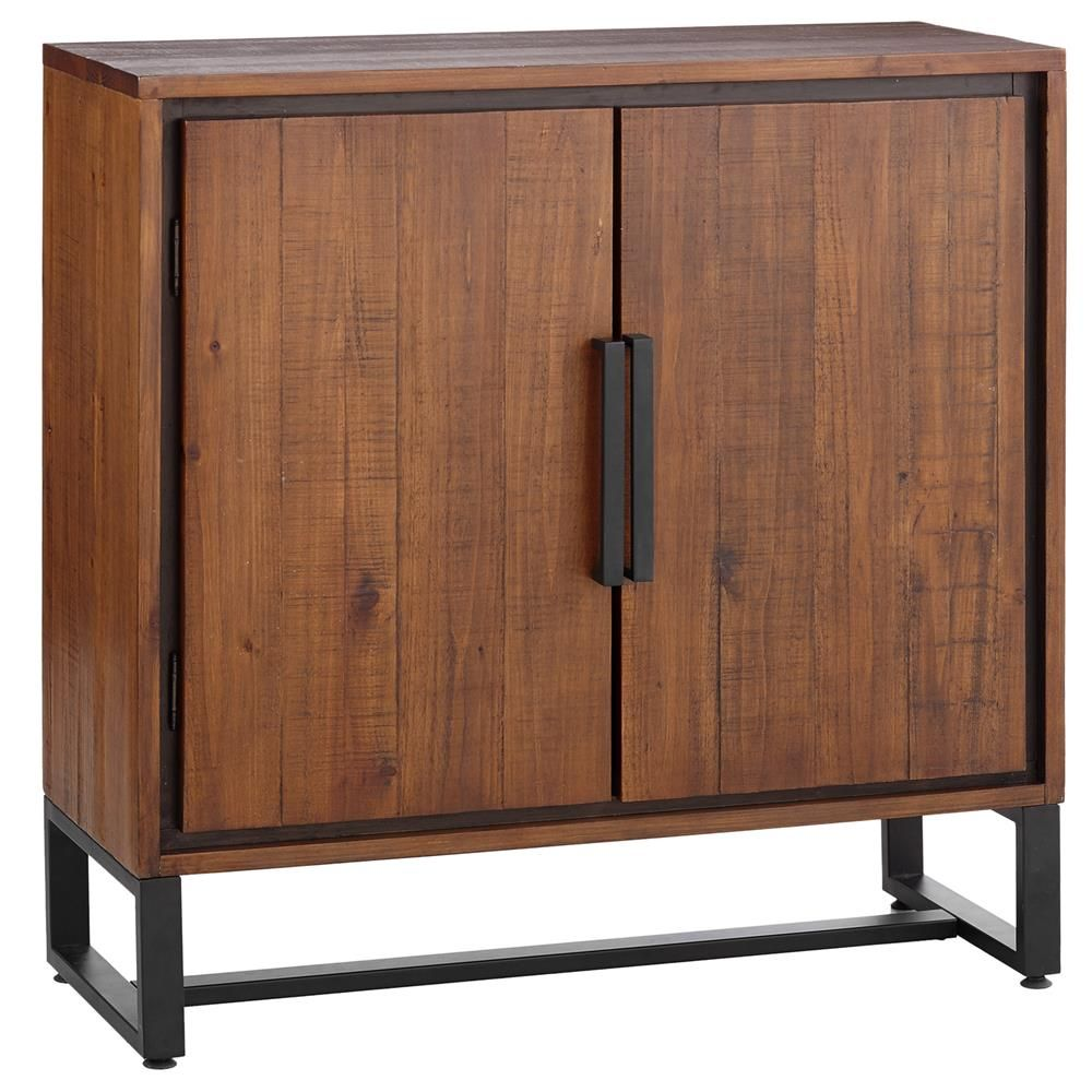 Wood Buffet With Metal Legs Buffets Cabinets Dining Room Furniture