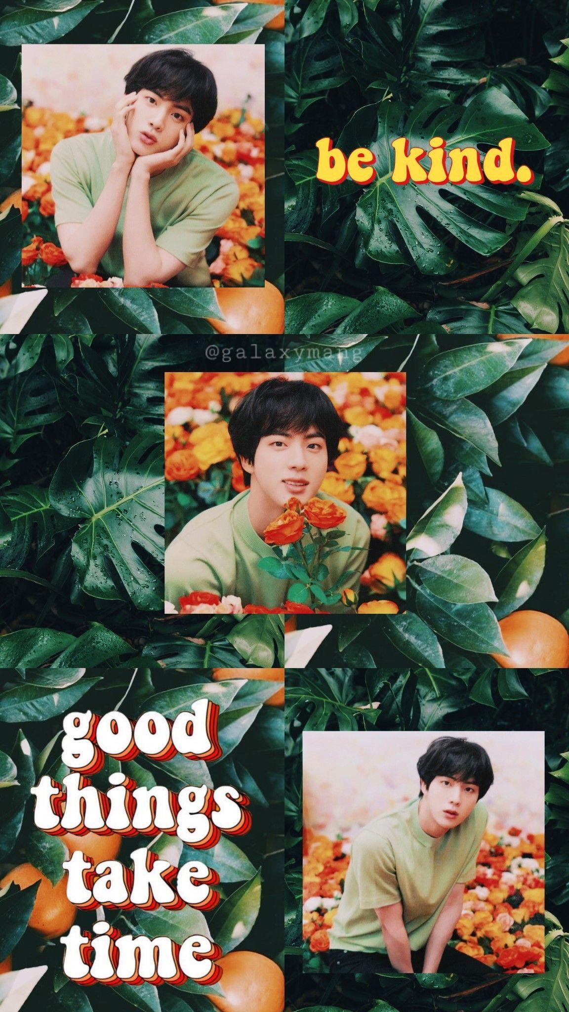 Bts Jin Kim Seokjin Green Wallpaper Aesthetic Bts Aesthetic Wallpaper For Phone Kim Taehyung Wallpaper Seokjin