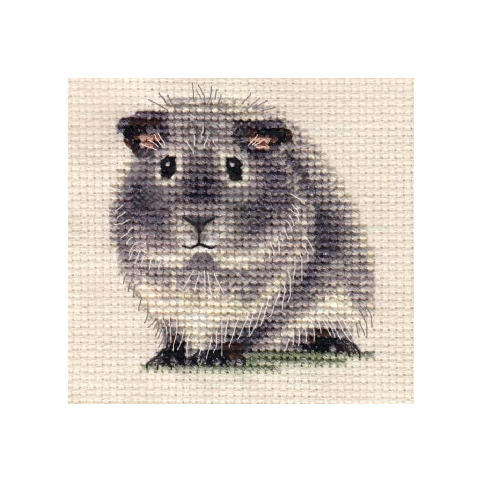 Silver Agouti Guinea Pig Full Counted Cross Stitch Kit Guinea