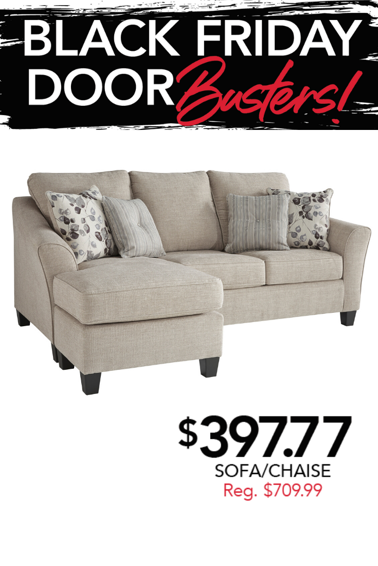 Black Friday Deal Chaise Sofa Furniture Montgomery Homes