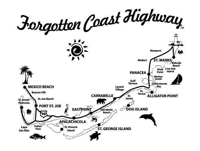 st joe beach florida map Map Of The Forgotten Coast Florida S Forgotten Coast Is A