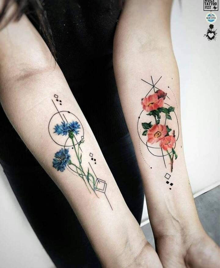 Combo of floral and geometric