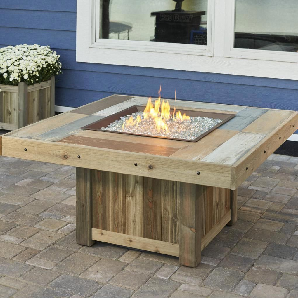 the outdoor greatroom company vintage 48 inch square propane gas rh pinterest com