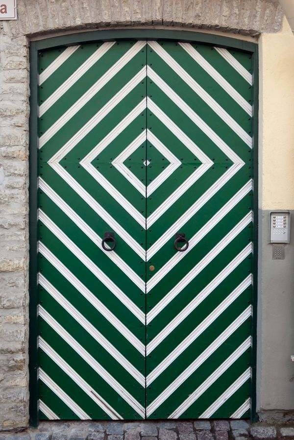 Green Doors, maybe not for the front doors. Perhaps for a closet doors.