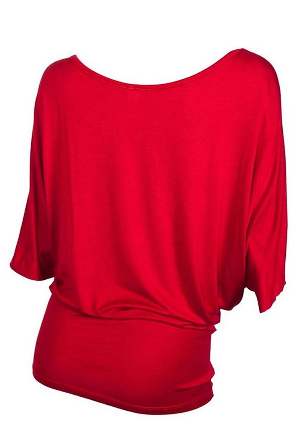 f4d6cd54 Women's Clothing, Tops & Tees, Blouses & Button-Down Shirts,Womens Off One  Shoulder Skull Bardot Batwing Sleeve T Shirt Top - Red - CK17YG24N9S  #Clothing ...
