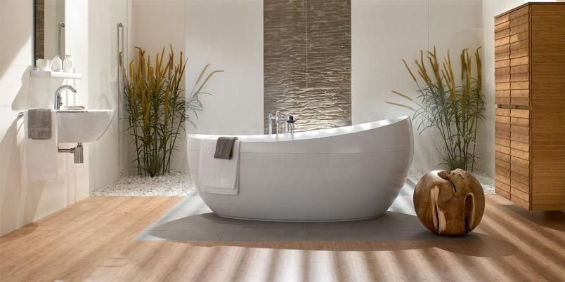 love the textured wall #bathroom #tub #feature #natural