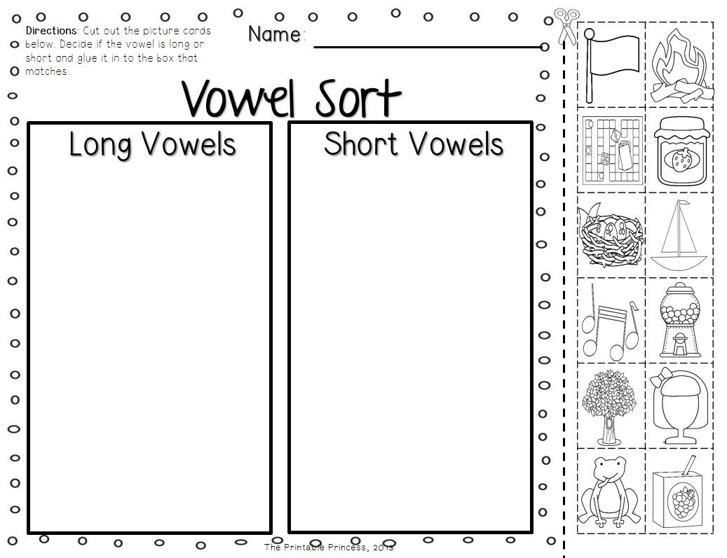 Short Vowels and Long Vowels Activities Pictures and Practice – Short and Long Vowel Worksheets
