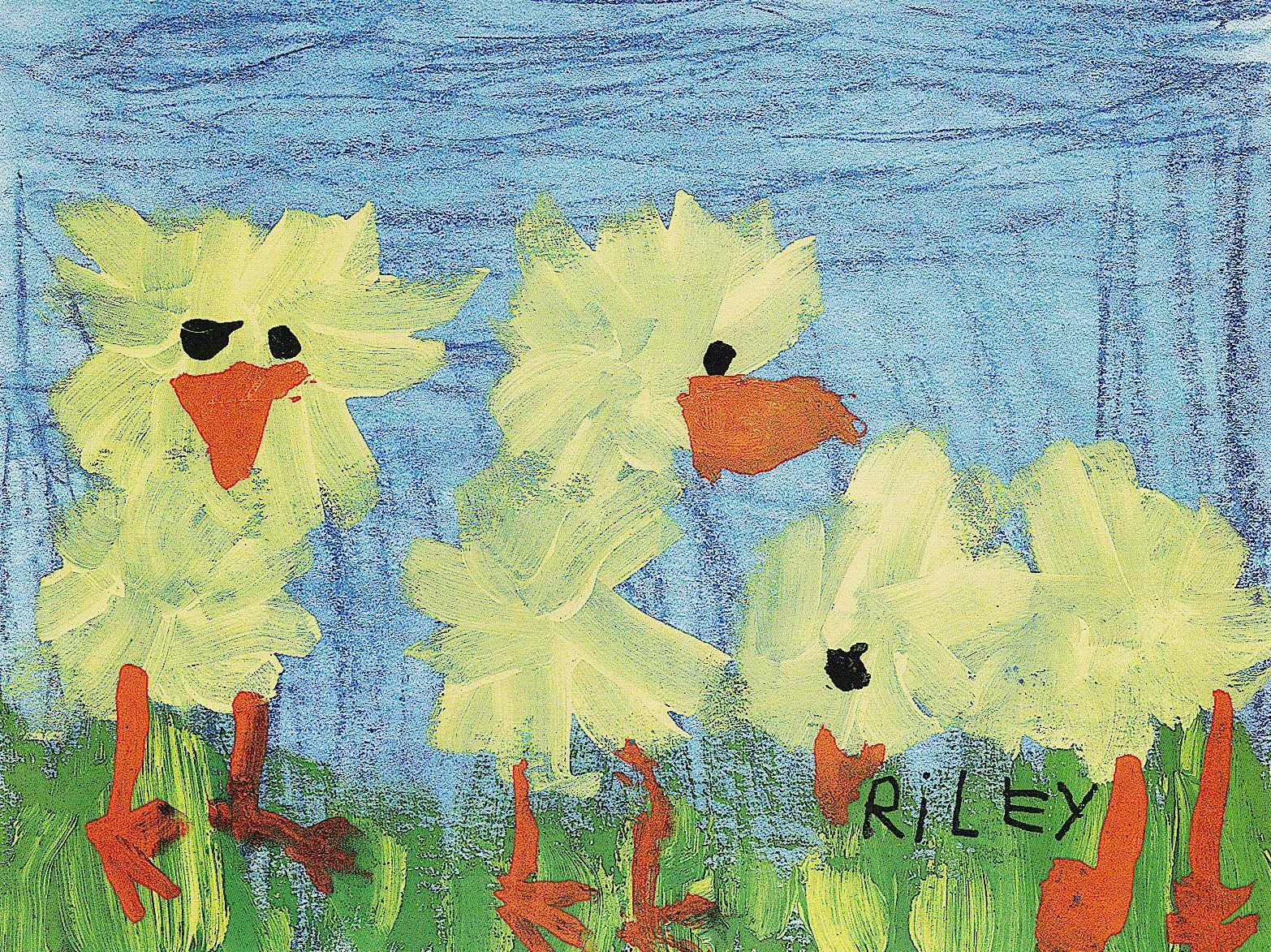 sponge paint ducks preschool art ideas in 2019. Black Bedroom Furniture Sets. Home Design Ideas