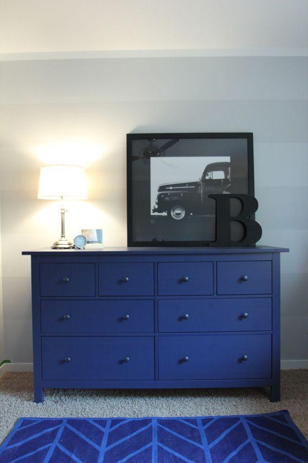 Ikea Blue Hemnes Chest Of