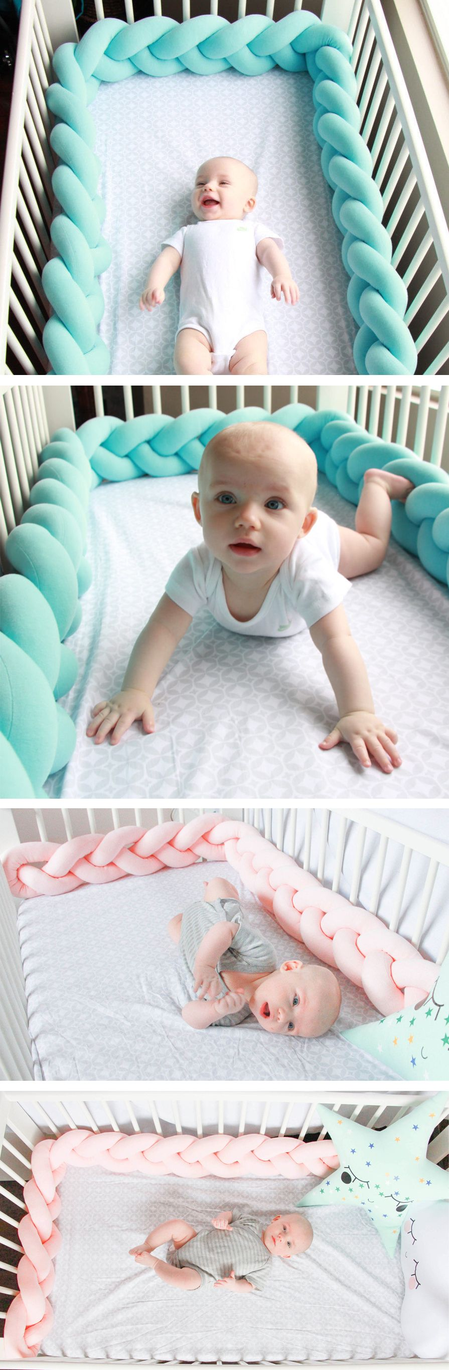 braided crib bumper knot pillow knot cushion. Black Bedroom Furniture Sets. Home Design Ideas