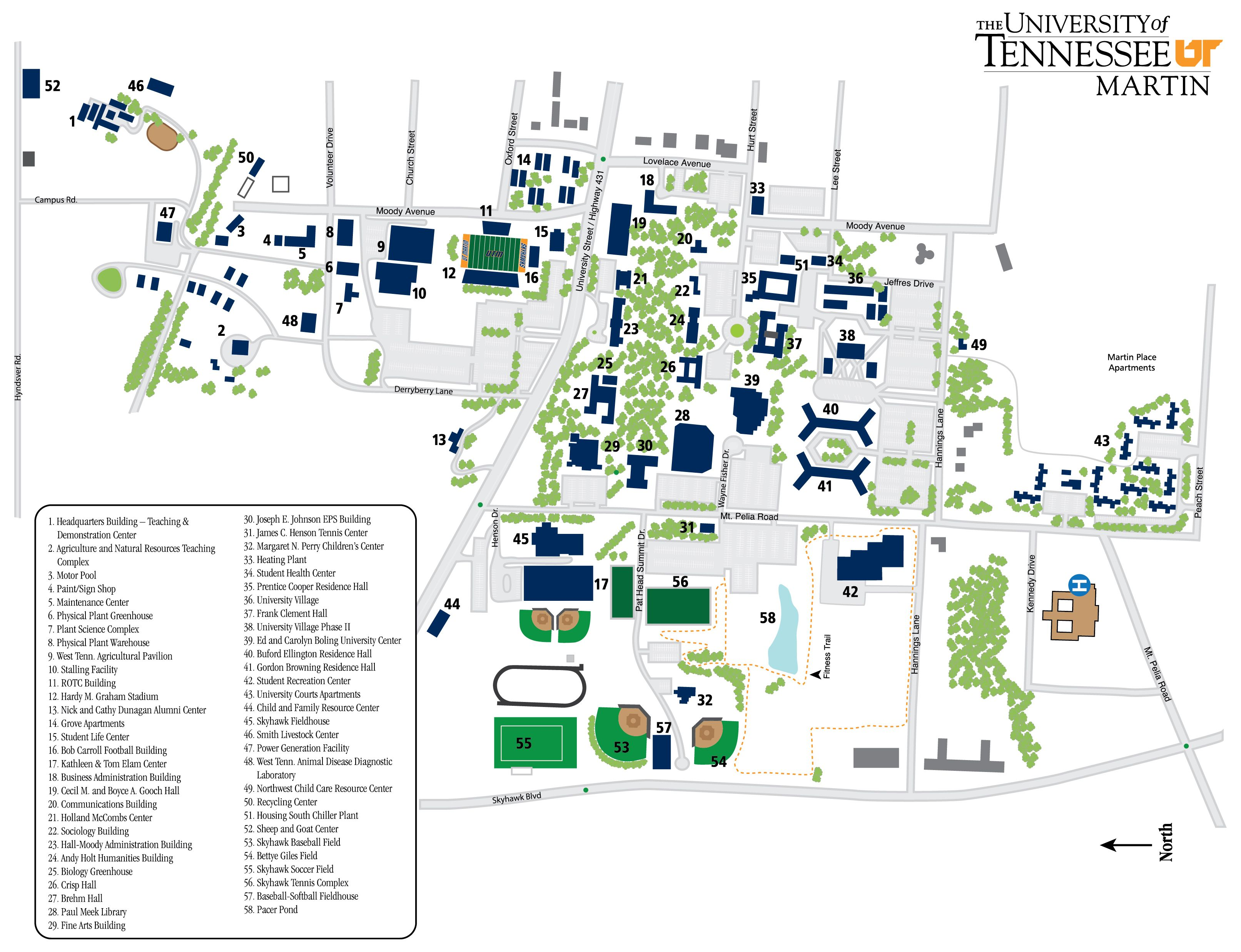 Ut Martin Campus Map Discover Ut Martin Pinterest Campus Map