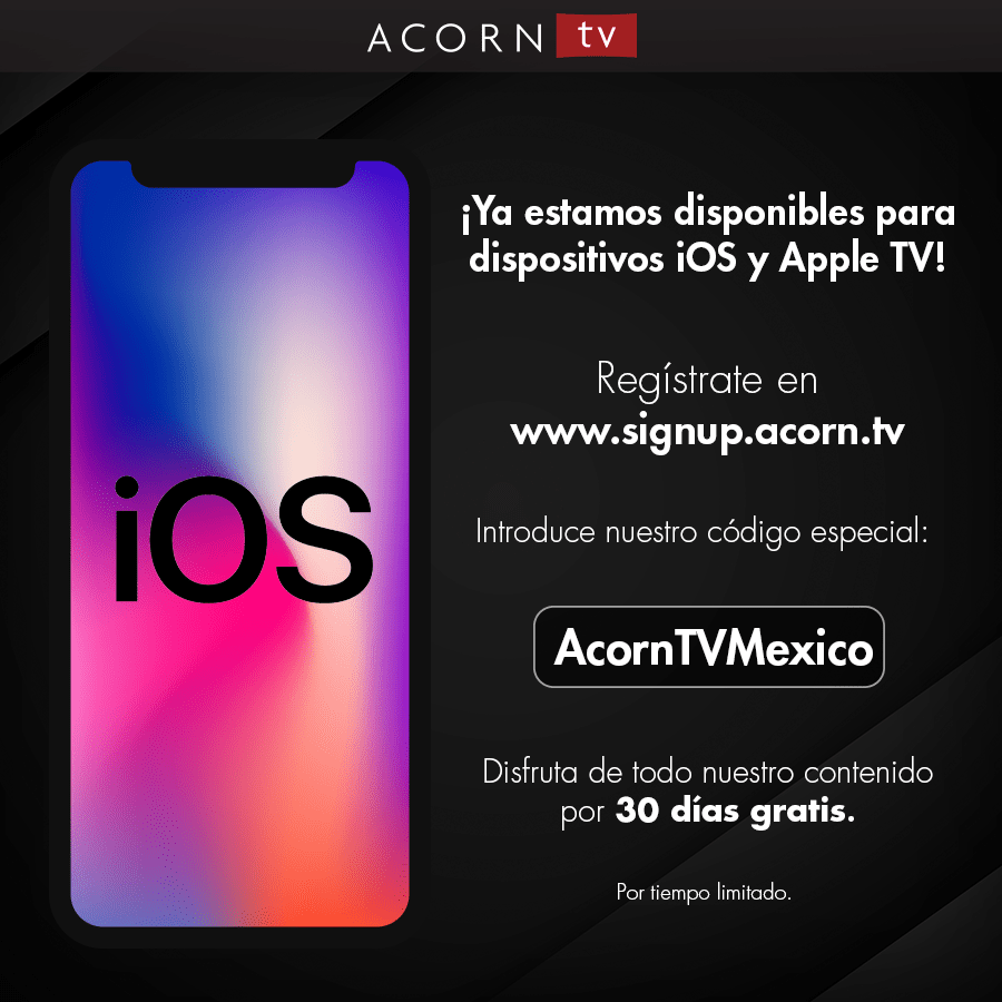 Acorn TV ¡ya disponible para dispositivos iOS y Apple TV