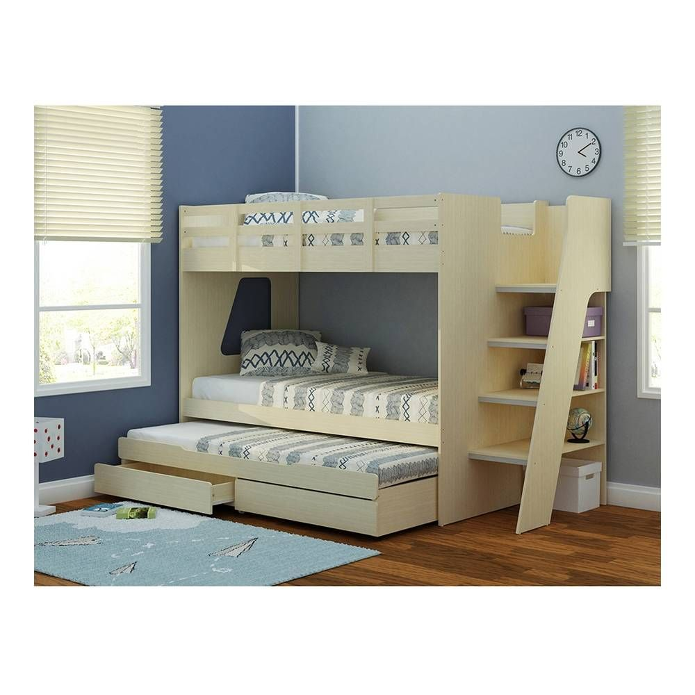 Litera de 3 camas m s 2 colchones 8 en walmart for Literas de madera para ninos