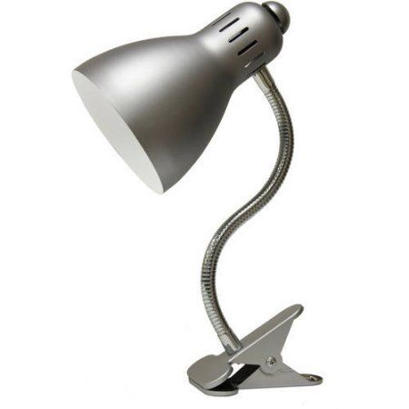 Home Clip On Desk Lamp Bulb Silver Table Lamps