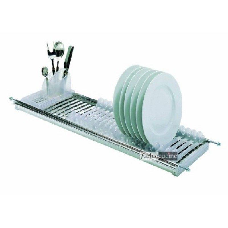 Scolapiatti modular acciaio inox 18 8 per pensile vasistas cm 80 - Scolapiatti da incasso ikea ...