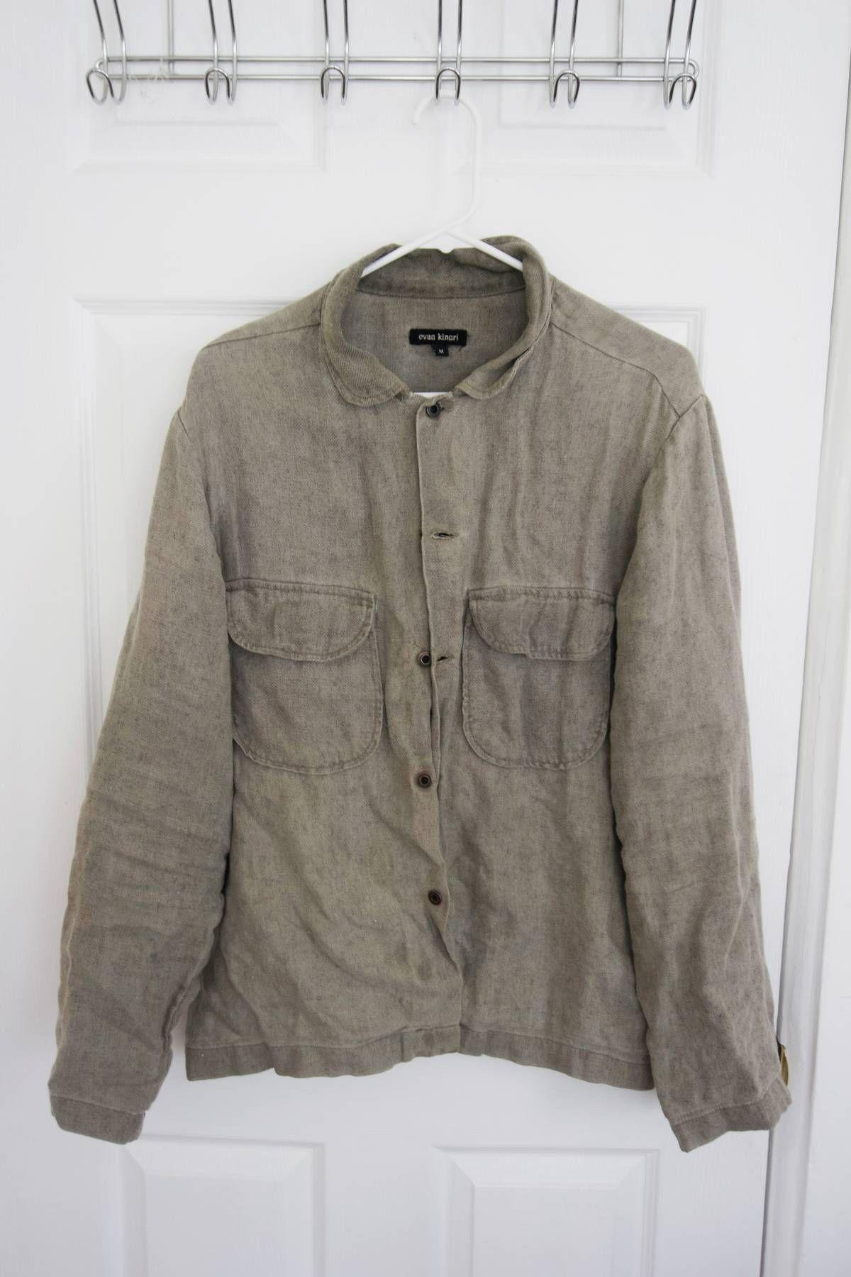 873388a0e4617 Buy Evan Kinori Linen hemp field shirt, Size: M, Description: Retail was