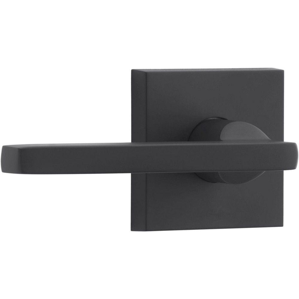 Baldwin Pv Squ Csr Square Privacy Lever Set With Contemporary Square Rose Satin Black In 2020 Contemporary Square Black Door Hardware Door Hardware