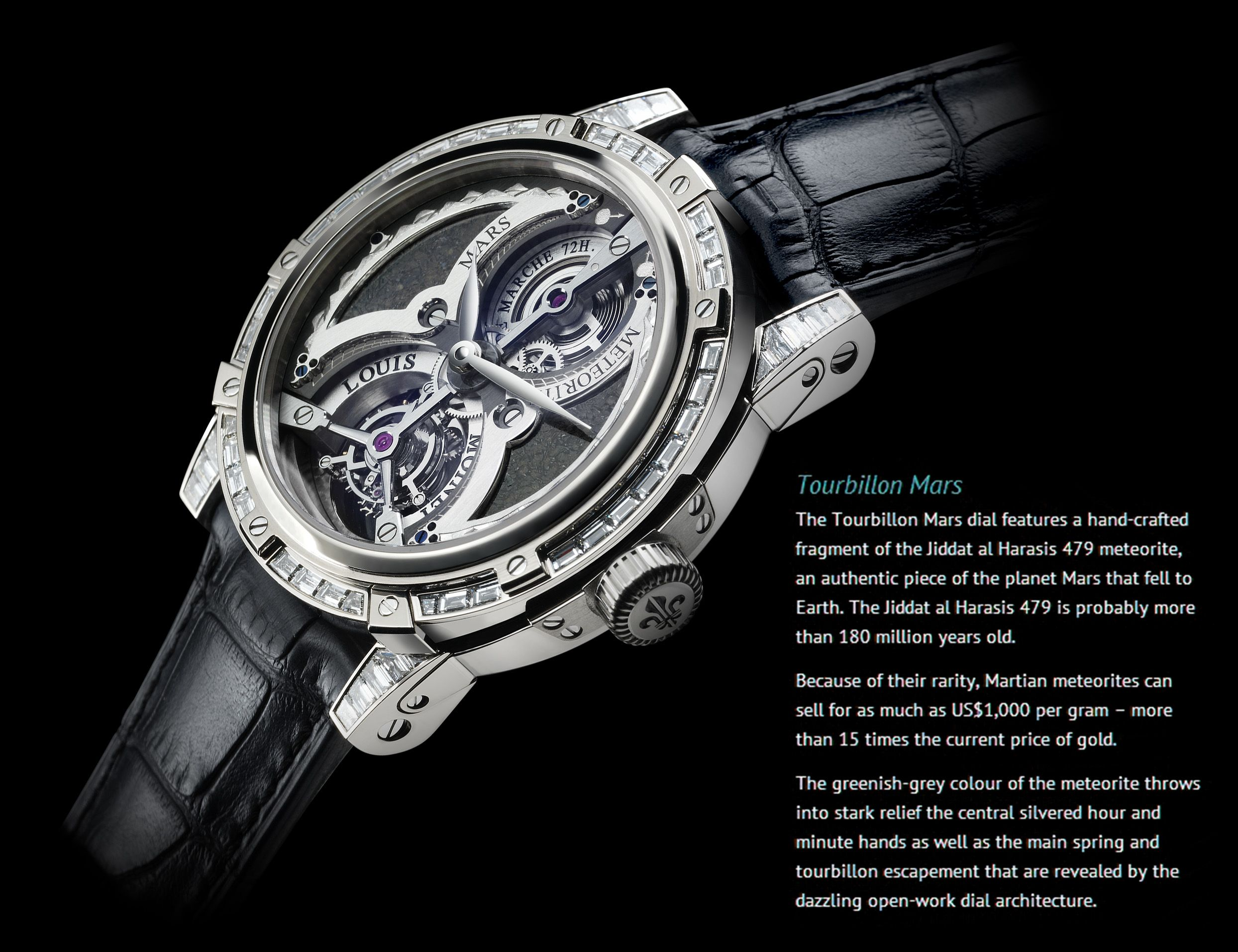Most Expensive Watch In The World With Price >> Louis Moinet Meteoris Tourbillon Mars Million Dollar Watches