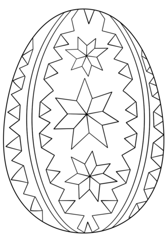 Ornate Easter Egg coloring page from Easter eggs category ...