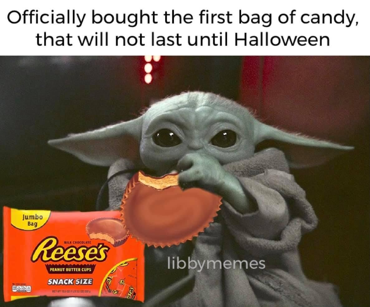 Pin By Tara On Geek Pics For The Geek In Us All Star Wars Jokes Yoda Meme Yoda Halloween