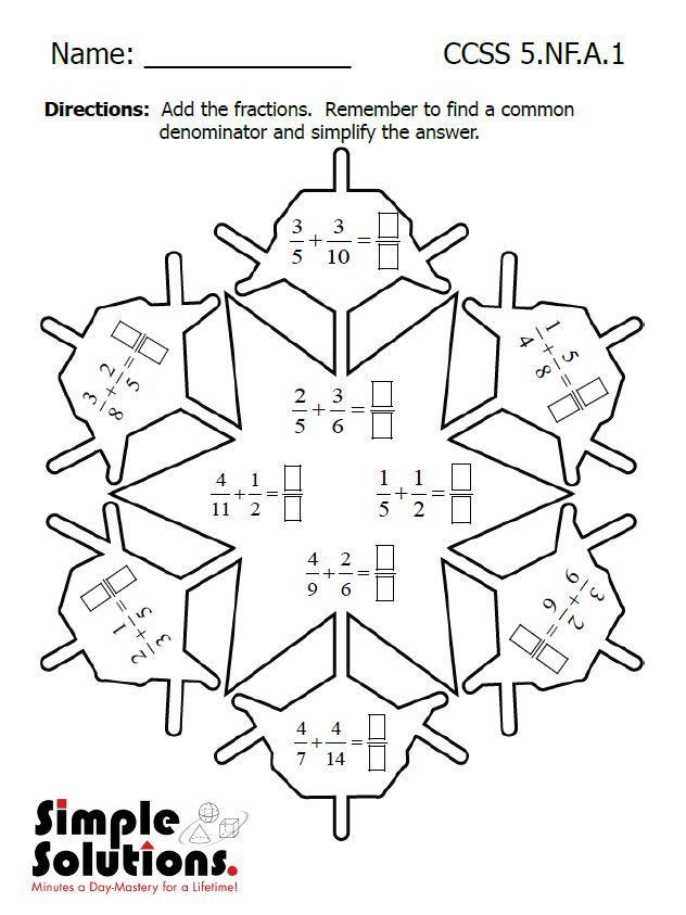 Fifth Grade math worksheet Free download math snow ccss http – Download Math Worksheets Free