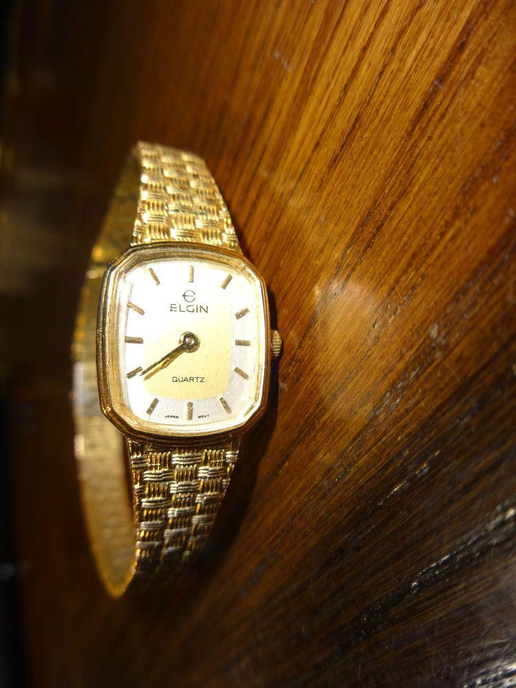 Vintage elgin quartz ladies wrist watch japan movt elgin casual vintage jewelry pinterest for Watches of japan