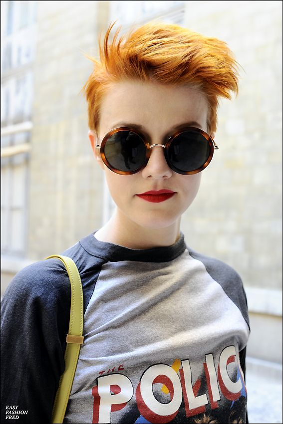 Style People Haircut For Short Hair Girls Sunnies Police Tee