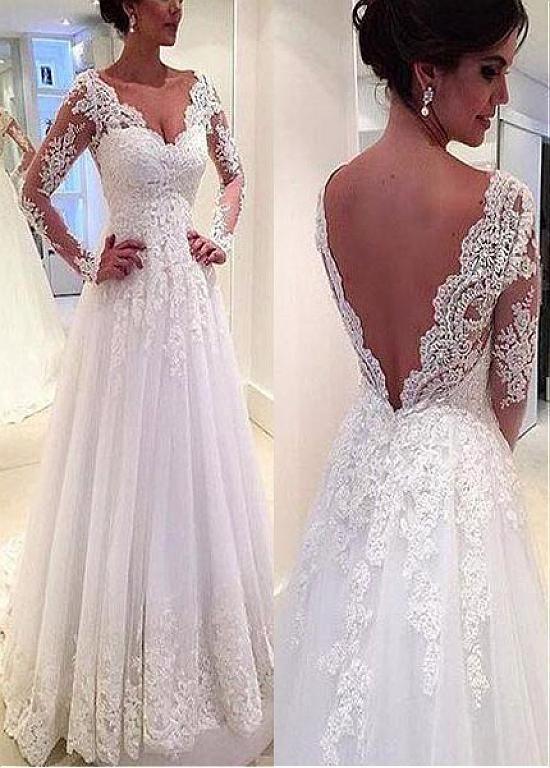 #ALinie #Brautkleid #Charming #Magbridal #mit #natürli
