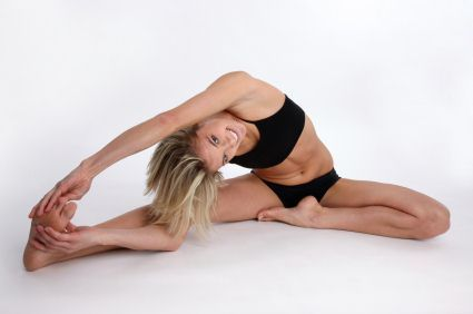 head to knee pose  stretching pose  janushirasana