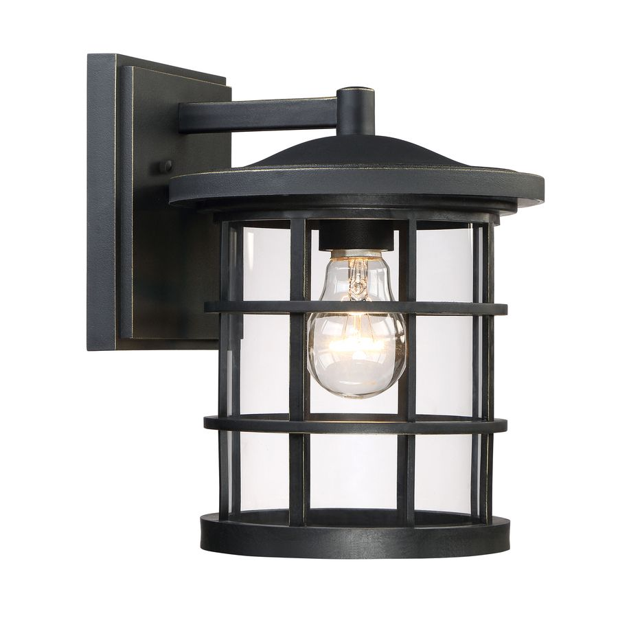 Lowe S Quoizel Asheville 10 5 In H Dark Oil Rubbed Bronze Outdoor Wall Light