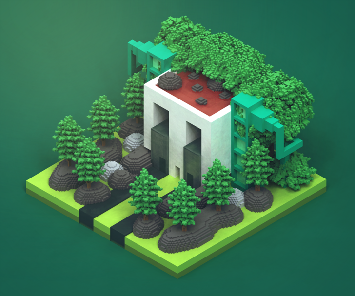 I really Heccin love voxel and sprite art Pix art