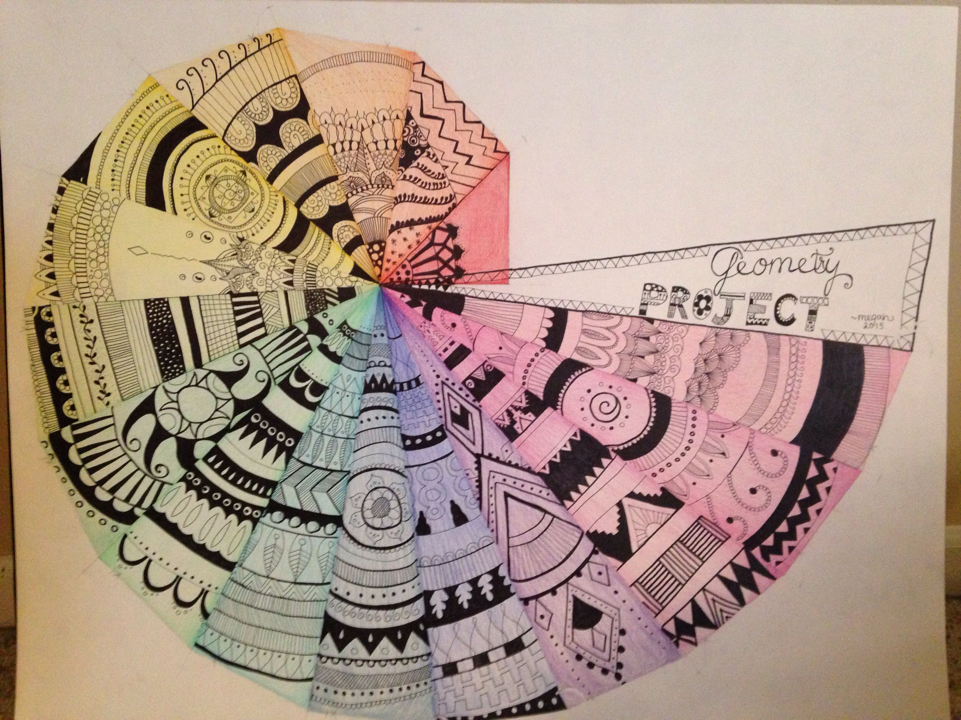 Pythagorean Spiral Geometry Project With Images