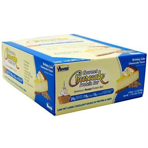Advanced Nutrient Science Intl Gourmet Cheesecake Protein Bar Birthday Cake Chee