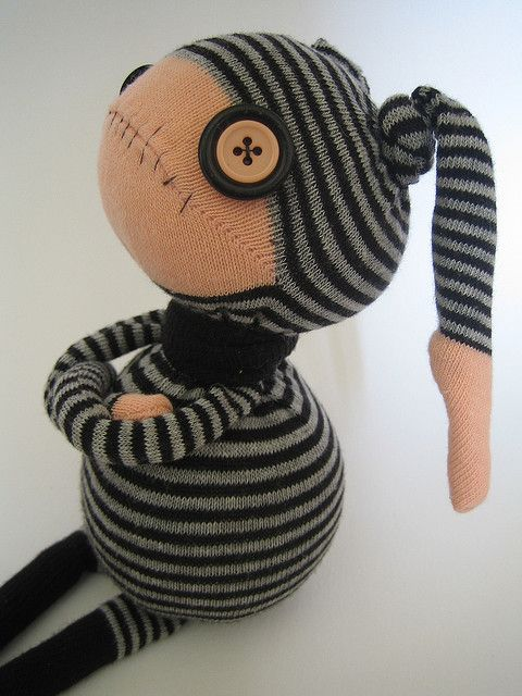 Grump by Odd Sox, I love making sock critters check... going to try something like this one next #quietcritters