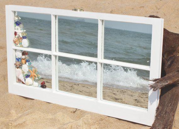 Window pane mirrors for wall decor