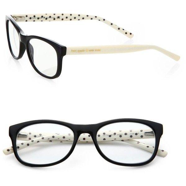 Kate Spade New York Lettie Polka-Dot Plastic Glasses found on Polyvore  Lunette De Vue 5d1c16b451ce