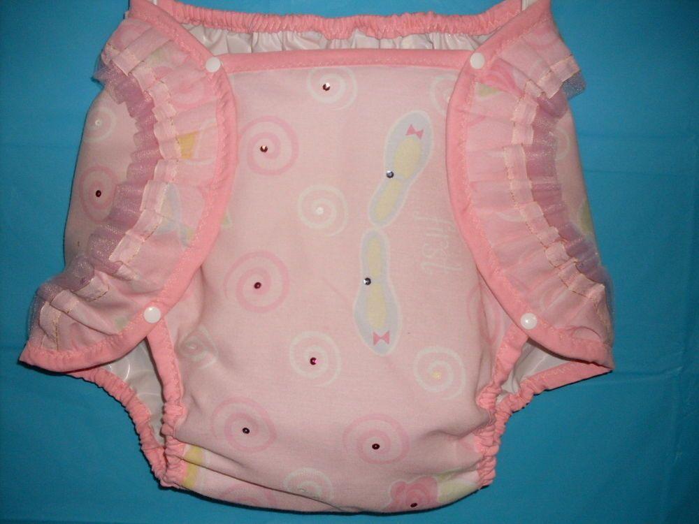 Diaper cover barbie pink puff ab dl nappy supple plastic - Femme qui porte une couche ...