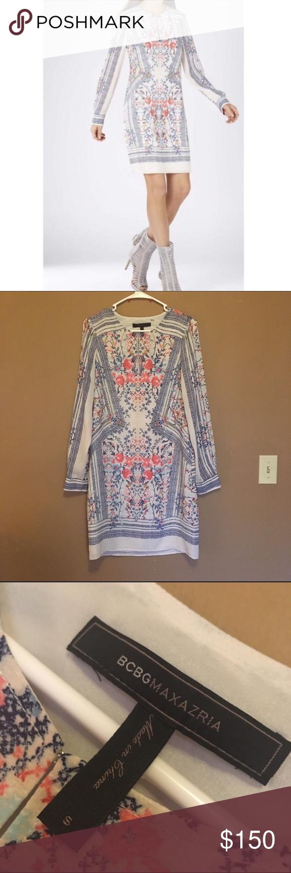BCBGMAXAZRIA Freya Long Sleeve Tunic Easter Dress tunic dress in ...