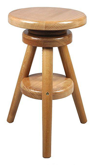 Hocker Massiv Schemel Stuhl Sitz Sitzmöbel Buche Drehhocker - bar für küche