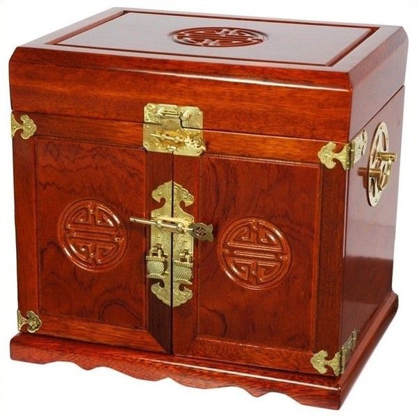 Oriental Furniture Jewelry Box 269 liked on Polyvore featuring