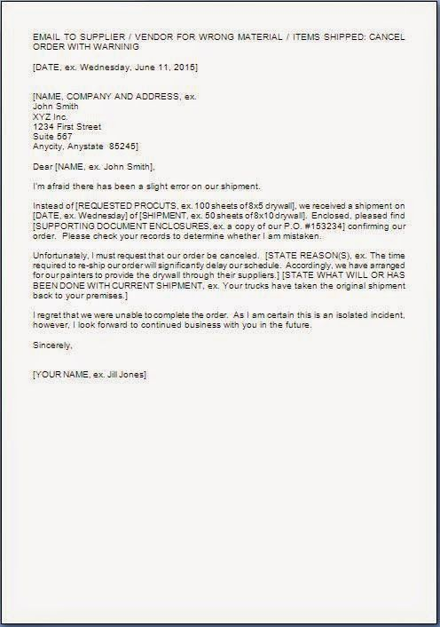 sample template example purchase order cancellation letter format – Purchase Letter Format