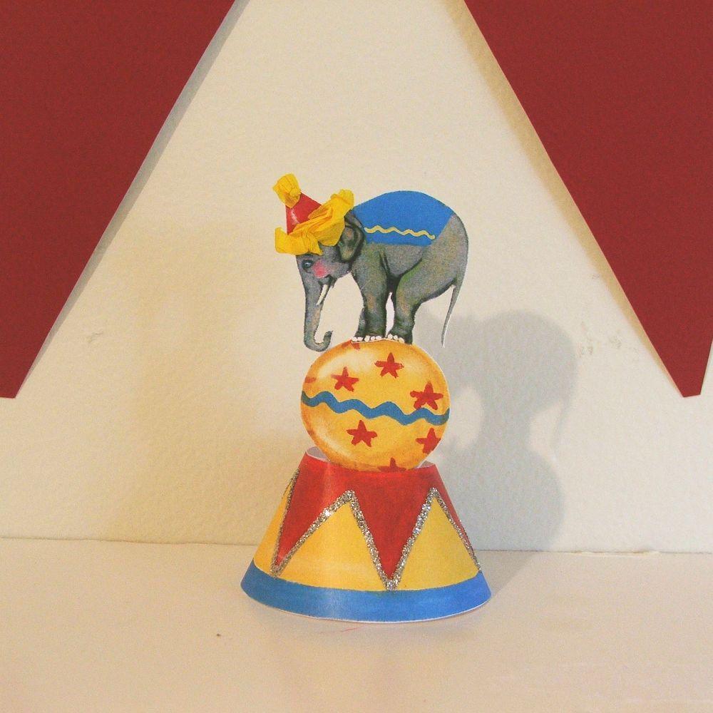 Vintage Elephant on Ball/Table Decoration/Centerpieces ...