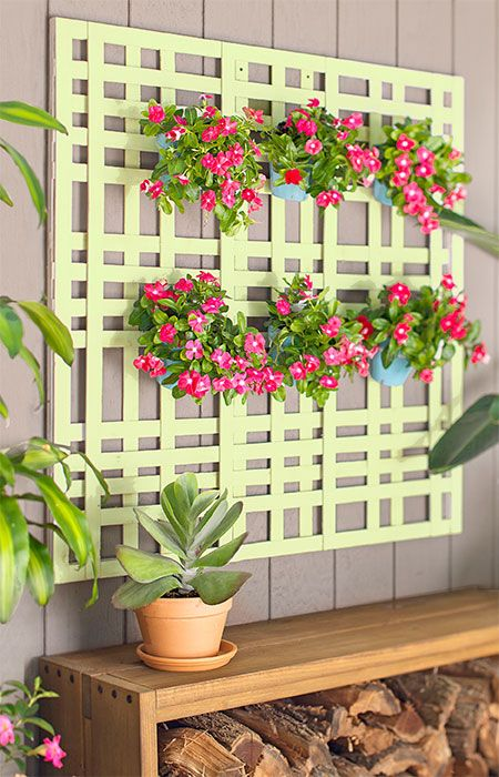 This DIY lattice-look planter, which requires no cutting, lets you ...