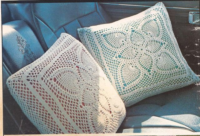 Cojines a Crochet -> http://esquemas.ctejidas.com/2012/08/duo ...