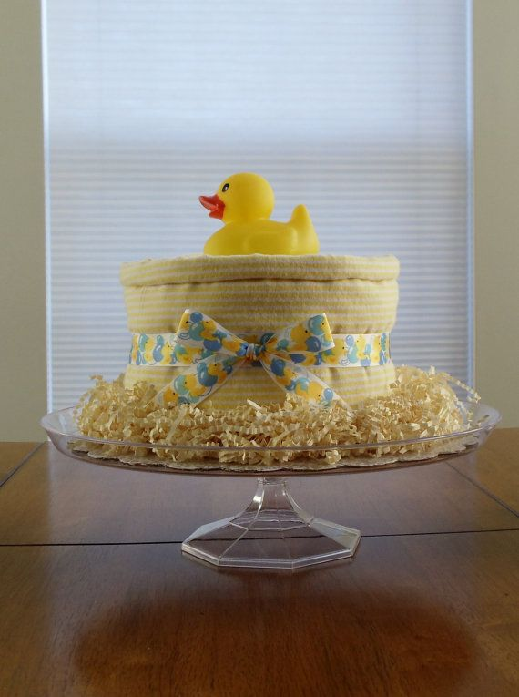 yellow white unique unisex duckie splish splash bath diaper cake rh pinterest com