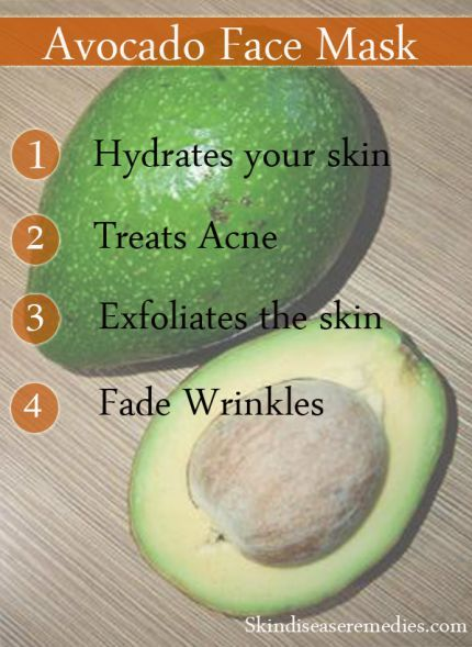 how to make avocado face mask for acne