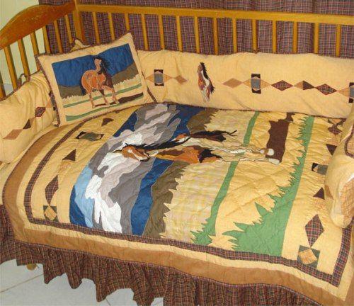 wild horses crib bedding set for the home crib bedding western rh pinterest com