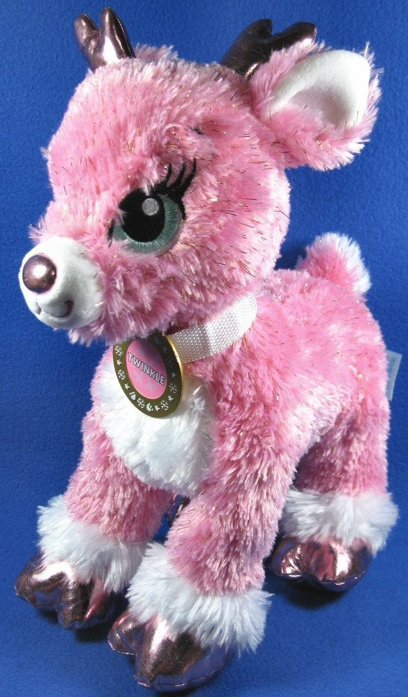 Build A Bear Christmas 2019.Build A Bear 14 Plush Pink Merry Mission Twinkle Reindeer