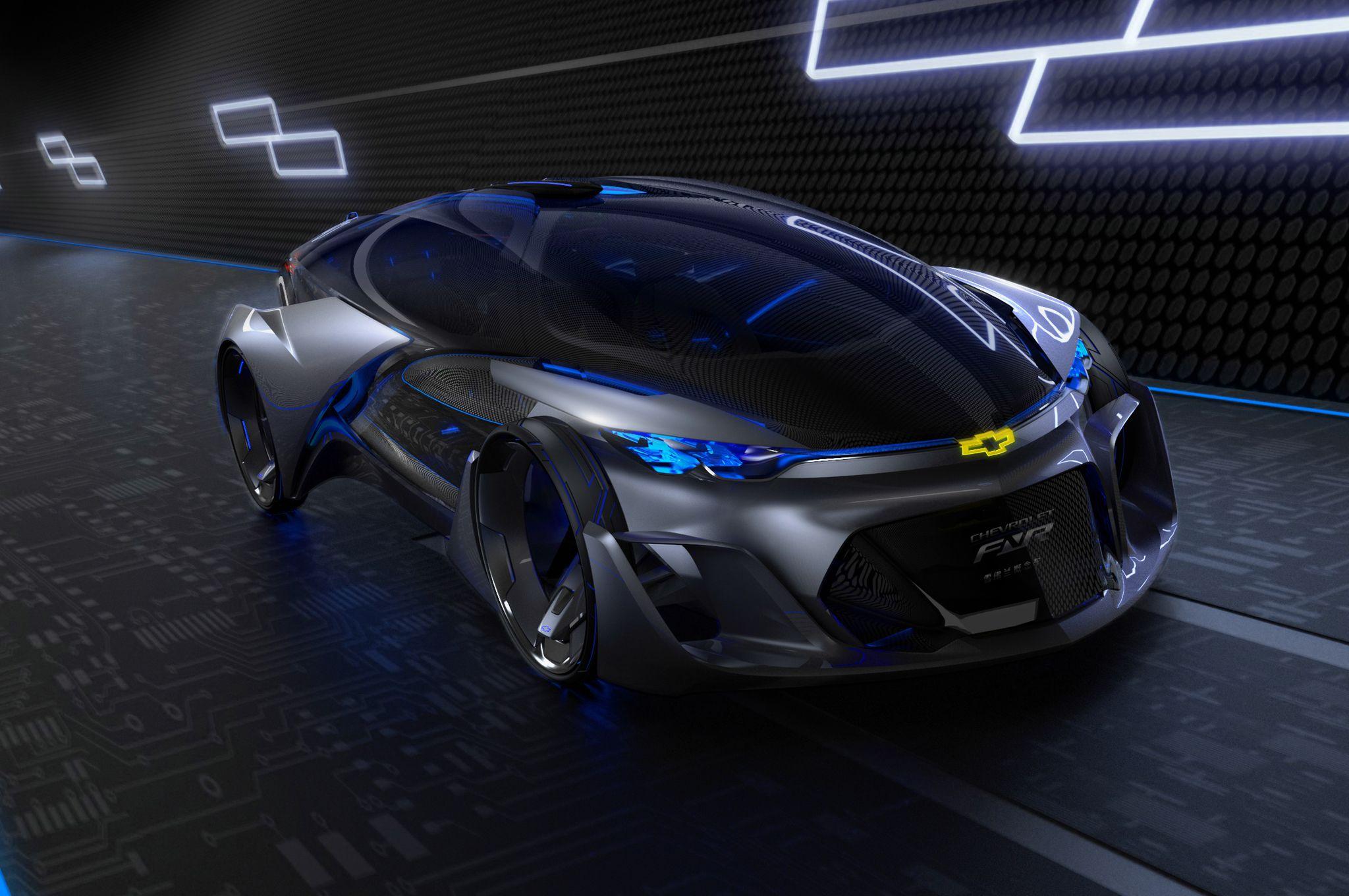 chevrolet fnr autonomous car concept rolls into shanghai cool cars rh pinterest com au